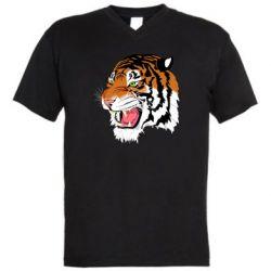 Чоловіча футболка з V-подібним вирізом Tiger roars