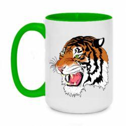 Кружка двоколірна 420ml Tiger roars