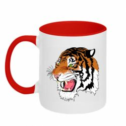 Кружка двоколірна 320ml Tiger roars