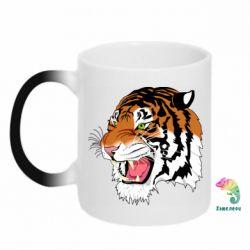 Кружка-хамелеон Tiger roars