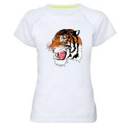 Жіноча спортивна футболка Tiger roars