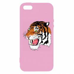 Чохол для iphone 5/5S/SE Tiger roars