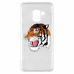 Чохол для Samsung A8 2018 Tiger roars