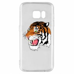 Чохол для Samsung S7 Tiger roars