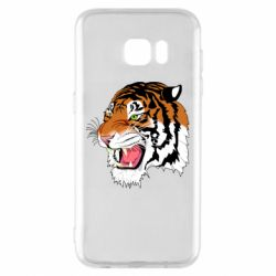 Чохол для Samsung S7 EDGE Tiger roars