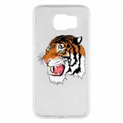 Чохол для Samsung S6 Tiger roars