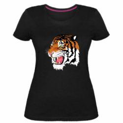 Жіноча стрейчева футболка Tiger roars