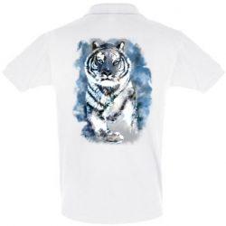 Мужская футболка поло Tiger watercolor