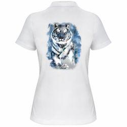 Женская футболка поло Tiger watercolor
