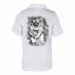 Детская футболка поло Tiger watercolor