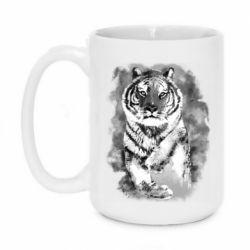 Кружка 420ml Tiger watercolor