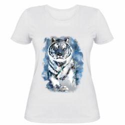 Женская футболка Tiger watercolor