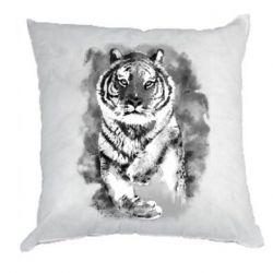 Подушка Tiger watercolor
