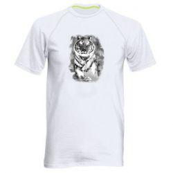 Мужская спортивная футболка Tiger watercolor