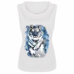 Женская майка Tiger watercolor