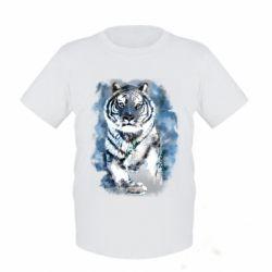 Детская футболка Tiger watercolor