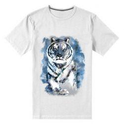 Мужская стрейчевая футболка Tiger watercolor