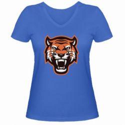 Жіноча футболка з V-подібним вирізом Tiger