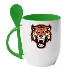 Кружка з керамічною ложкою Tiger