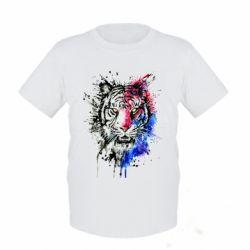 Дитяча футболка Тигр Акварель