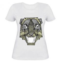 Женская футболка Тигр арт