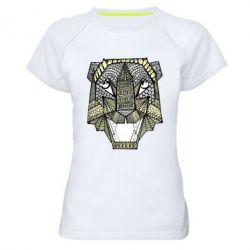 Женская спортивная футболка Тигр арт