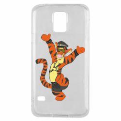 Чехол для Samsung S5 Тигра темный властелин