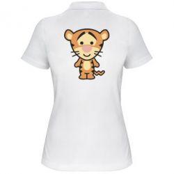Женская футболка поло тигрюля - FatLine