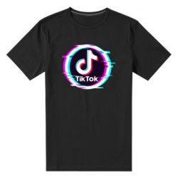 Чоловіча стрейчева футболка Tik tock glitch ring