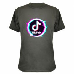 Камуфляжна футболка Tik tock glitch ring