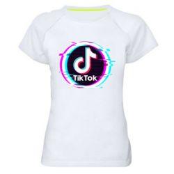 Жіноча спортивна футболка Tik tock glitch ring
