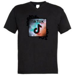 Чоловіча футболка з V-подібним вирізом Tik Tok art