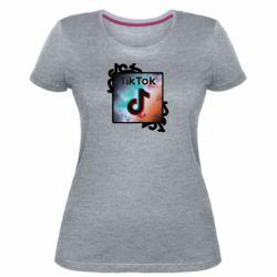 Жіноча стрейчева футболка Tik Tok art