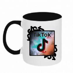 Кружка двоколірна 320ml Tik Tok art