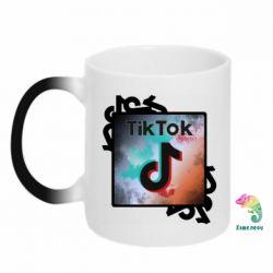 Кружка-хамелеон Tik Tok art