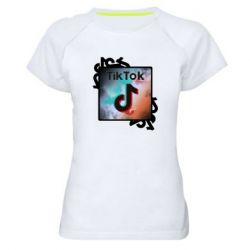 Жіноча спортивна футболка Tik Tok art