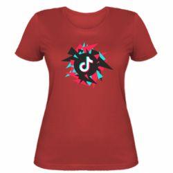 Жіноча футболка Tik tok vector