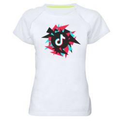Жіноча спортивна футболка Tik tok vector