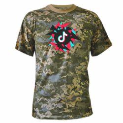 Камуфляжна футболка Tik tok vector