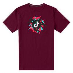 Чоловіча стрейчева футболка Tik tok vector