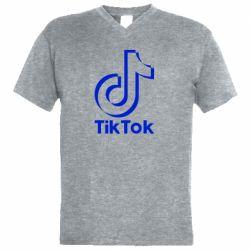 Чоловіча футболка з V-подібним вирізом Тик Ток