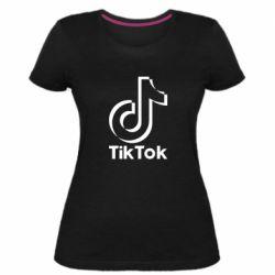 Жіноча стрейчева футболка Тик Ток