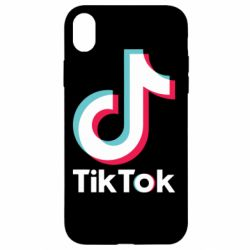 Чехол для iPhone XR Tiktok logo