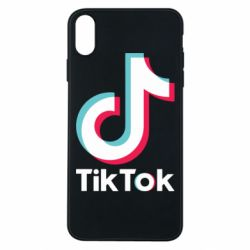 Чехол для iPhone Xs Max Tiktok logo