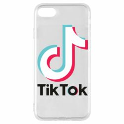 Чехол для iPhone 8 Tiktok logo