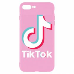Чехол для iPhone 8 Plus Tiktok logo