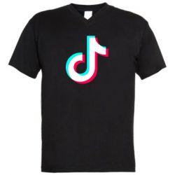 Чоловіча футболка з V-подібним вирізом TikTok sign