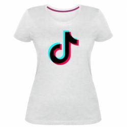 Жіноча стрейчева футболка TikTok sign