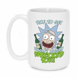 Кружка 420ml Time to get riggity wrecked son