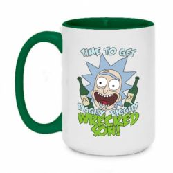 Кружка двухцветная 420ml Time to get riggity wrecked son